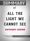 Cover image for Summary of All the Light We Cannot See