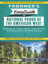 Cover image for Frommer's EasyGuide to National Parks of the American West