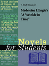 """Cover image for A Study Guide for Madeleine L'Engle's """"A Wrinkle in Time"""""""