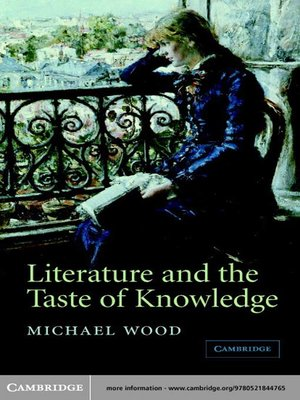 cover image of Literature and the Taste of Knowledge