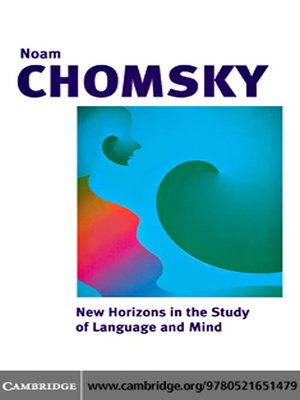 cover image of New Horizons in the Study of Language and Mind