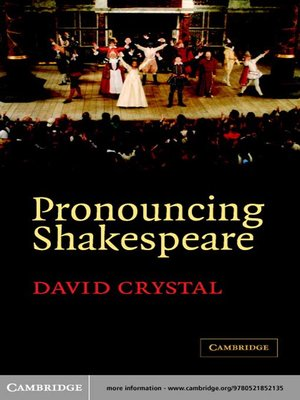 cover image of Pronouncing Shakespeare