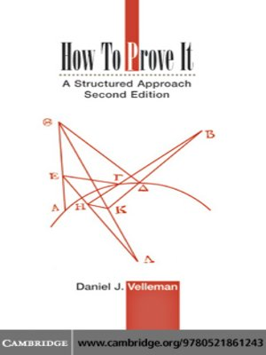 cover image of How to Prove It