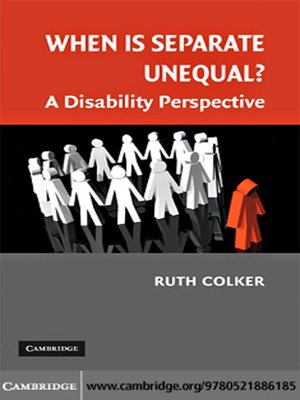 cover image of When is Separate Unequal?