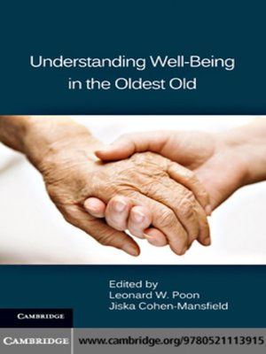 cover image of Understanding Well-Being in the Oldest Old