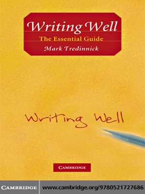 cover image of Writing Well