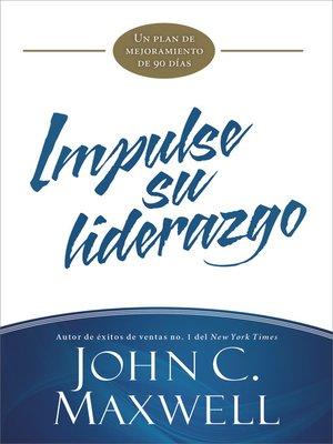 cover image of Impulse su liderazgo