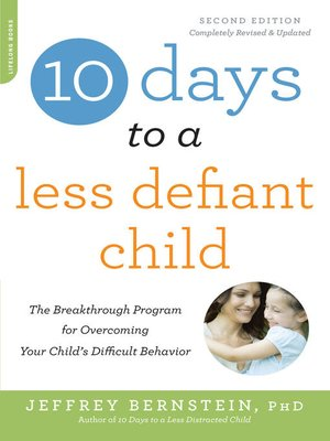 cover image of 10 Days to a Less Defiant Child