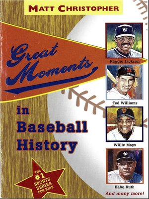cover image of Great Moments in Baseball History