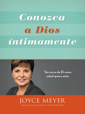 cover image of Conozca a Dios íntimamente