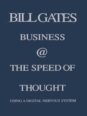 business at the speed of thought ebook
