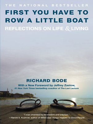 cover image of First You Have to Row a Little Boat