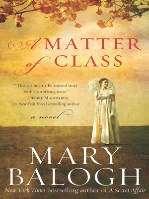 cover image of A Matter of Class