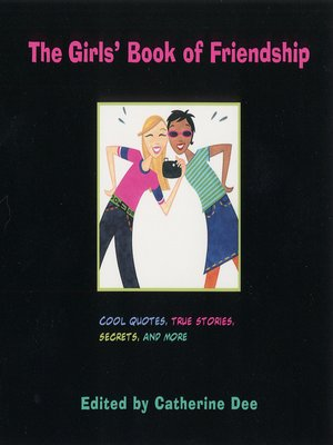 cover image of The Girls' Book of Friendship