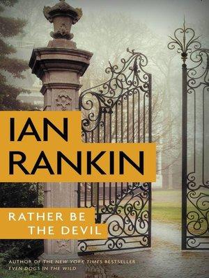 ian rankin rather be the devil pdf