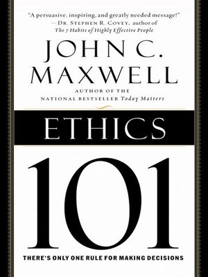 cover image of Ethics 101