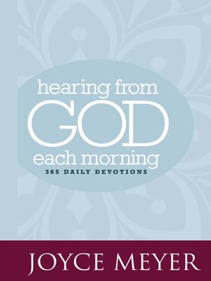 cover image of Hearing from God Each Morning