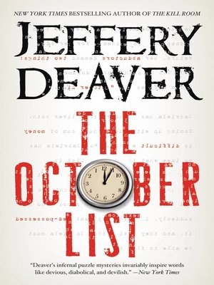 cover image of The October List