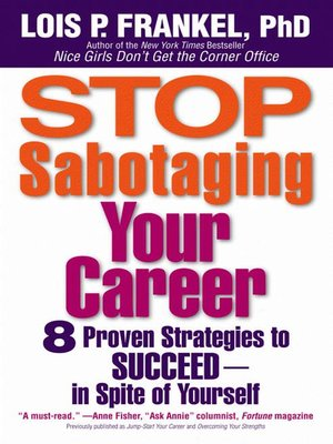 cover image of Stop Sabotaging Your Career