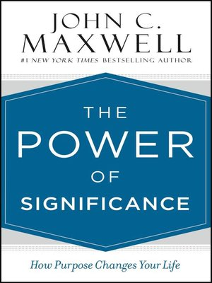 cover image of The Power of Significance