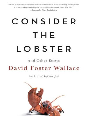 cover image of Consider the Lobster