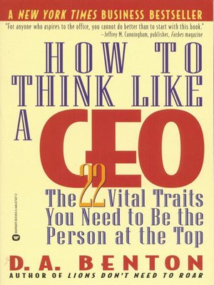 cover image of How to Think Like a CEO: Biz Books to Go