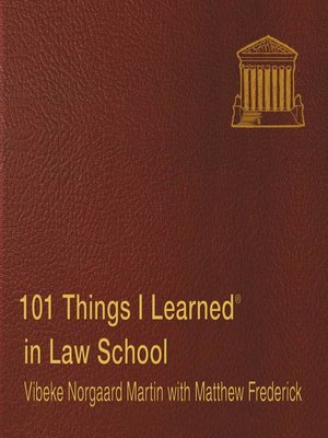 cover image of 101 Things I Learned in Law School