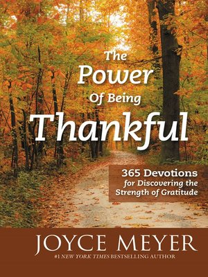 cover image of The Power of Being Thankful