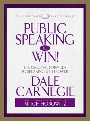 cover image of Public Speaking to Win