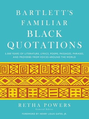cover image of Bartlett's Familiar Black Quotations