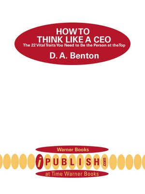 cover image of How to Think Like a CEO