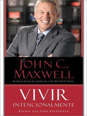 cover image of Vivir Intencionalmente