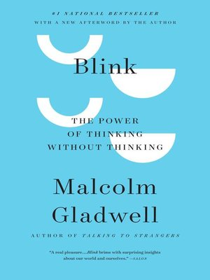 Blink by Malcolm Gladwell · OverDrive (Rakuten OverDrive): eBooks