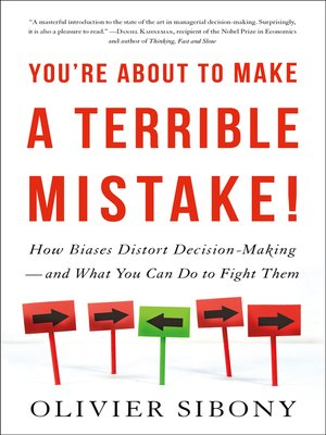 cover image of You're About to Make a Terrible Mistake