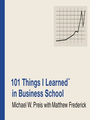 cover image of 101 Things I Learned<sup>TM</sup> in Business School