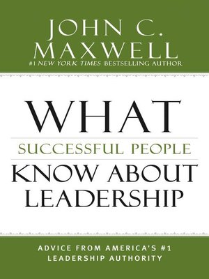 cover image of What Successful People Know about Leadership