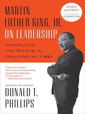 cover image of Martin Luther King, Jr., on Leadership