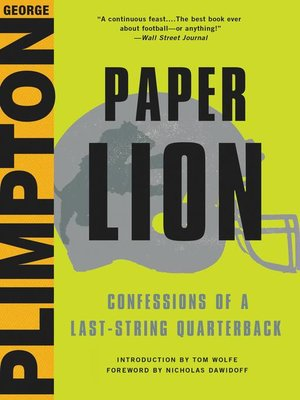 cover image of Paper Lion