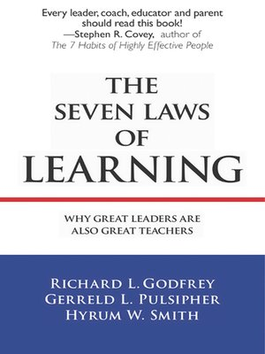 cover image of The Seven Laws of Learning