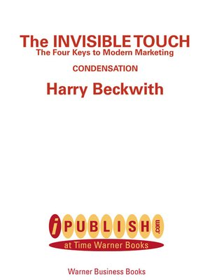 cover image of The Invisible Touch: Biz Books to Go