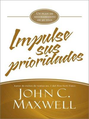 cover image of Impulse sus prioridades