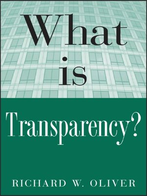 cover image of What is Transparency?