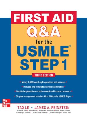 cover image of First Aid Q&A for the USMLE Step 1