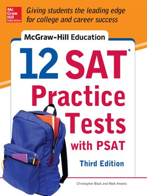 cover image of McGraw-Hill Education 12 SAT Practice Tests with PSAT
