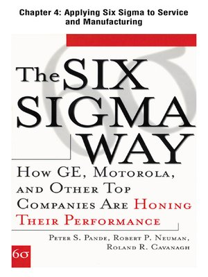cover image of Applying Six Sigma to Service and Manufacturing