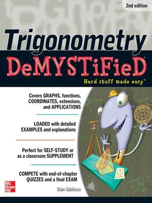 cover image of Trigonometry Demystified