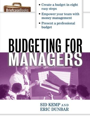 cover image of Budgeting for Managers