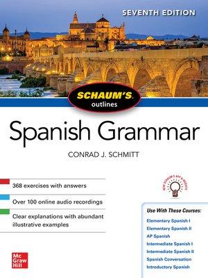 cover image of Schaum's Outline of Spanish Grammar