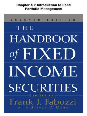 cover image of Introduction to Bond Portfolio Management