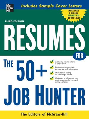 cover image of Resumes for 50+ Job Hunters